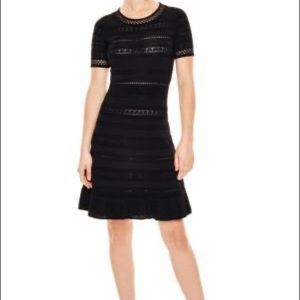 Sandro Black Aline Fit and Flare Dress